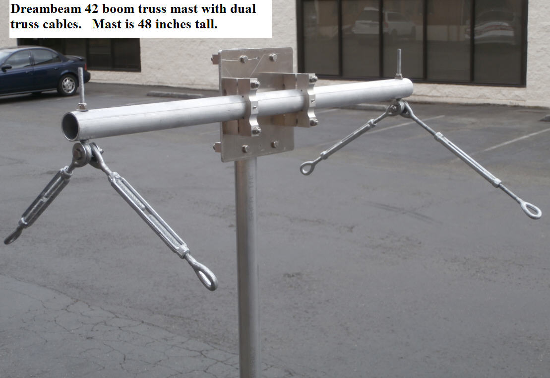 "Antenna boom Truss Bracket Assembly 2/"" boom//mast"